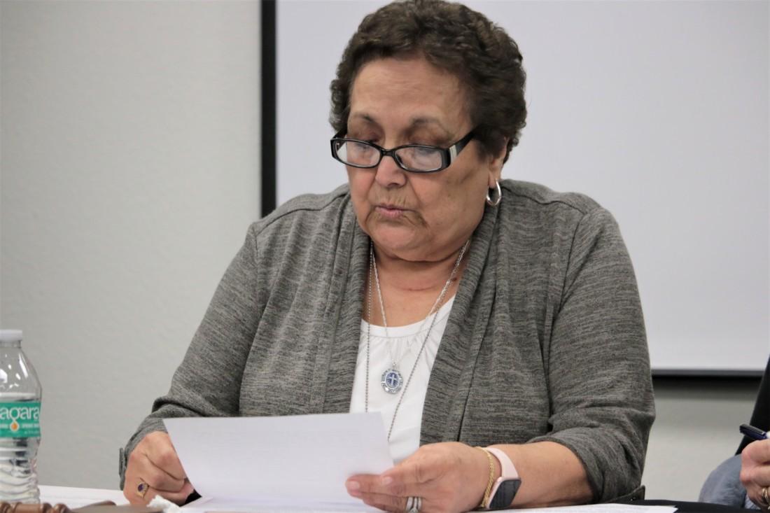Josie Sanchez read the statement announcing Underwood's departure.