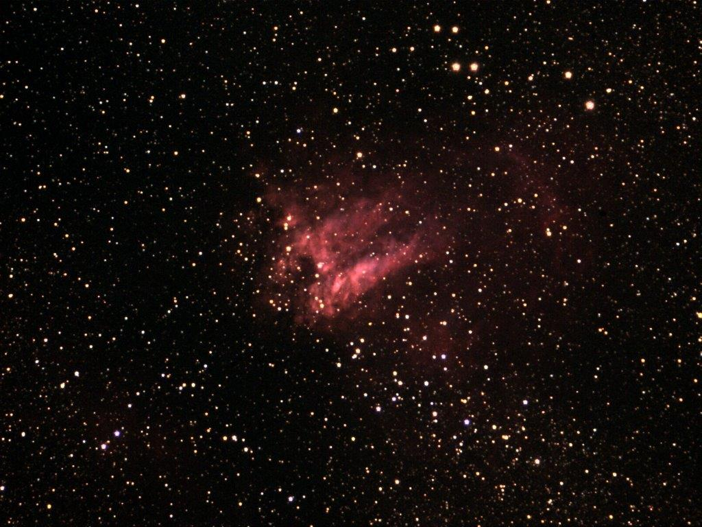 M-17 the Swan Nebula. Photo provided by David Baumgartner.