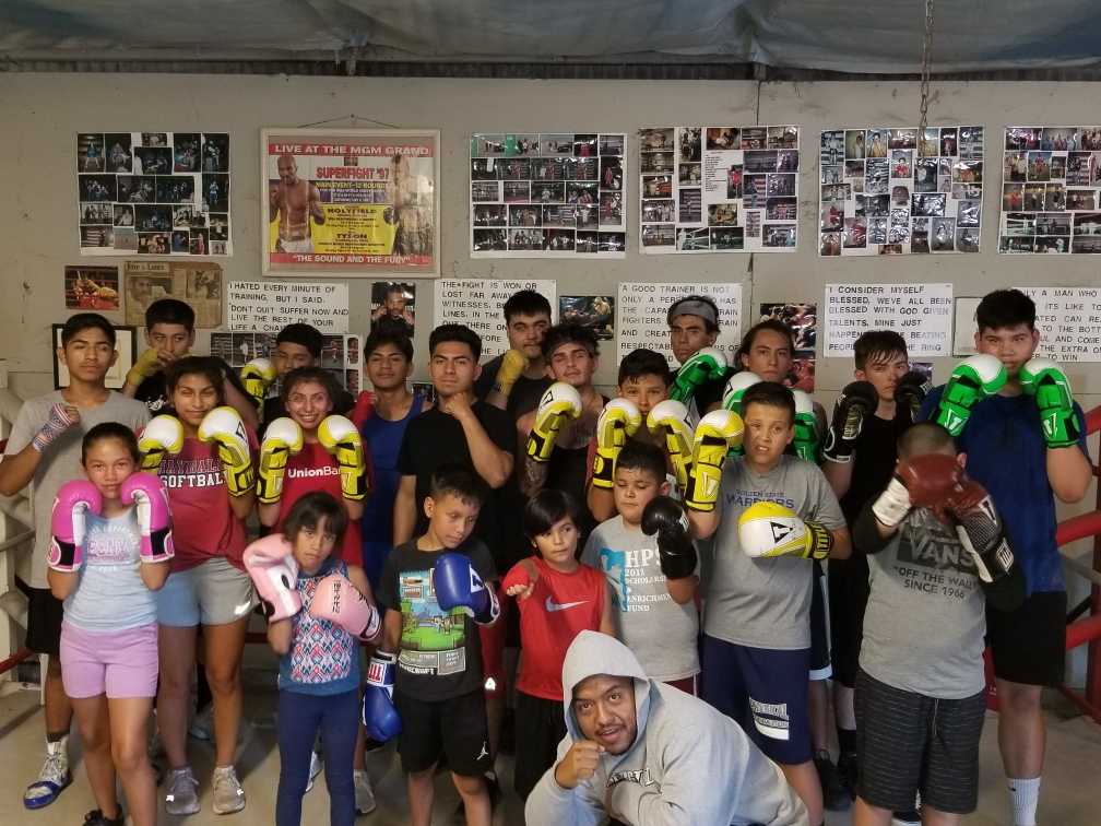 Students at Bulldog Boxing Gym in Hollister. Photo provided.