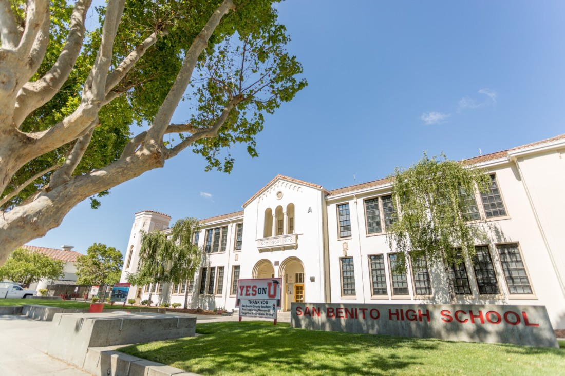 San Benito High School administration building. Photo provided by SBHS.