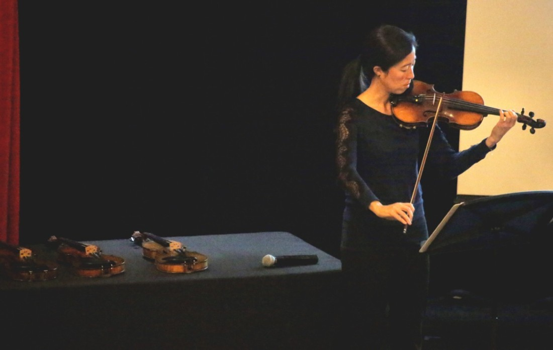Rebecca Jackson performs at San Benito High School for the Violins of Hope project. Photos by Robert Eliason.