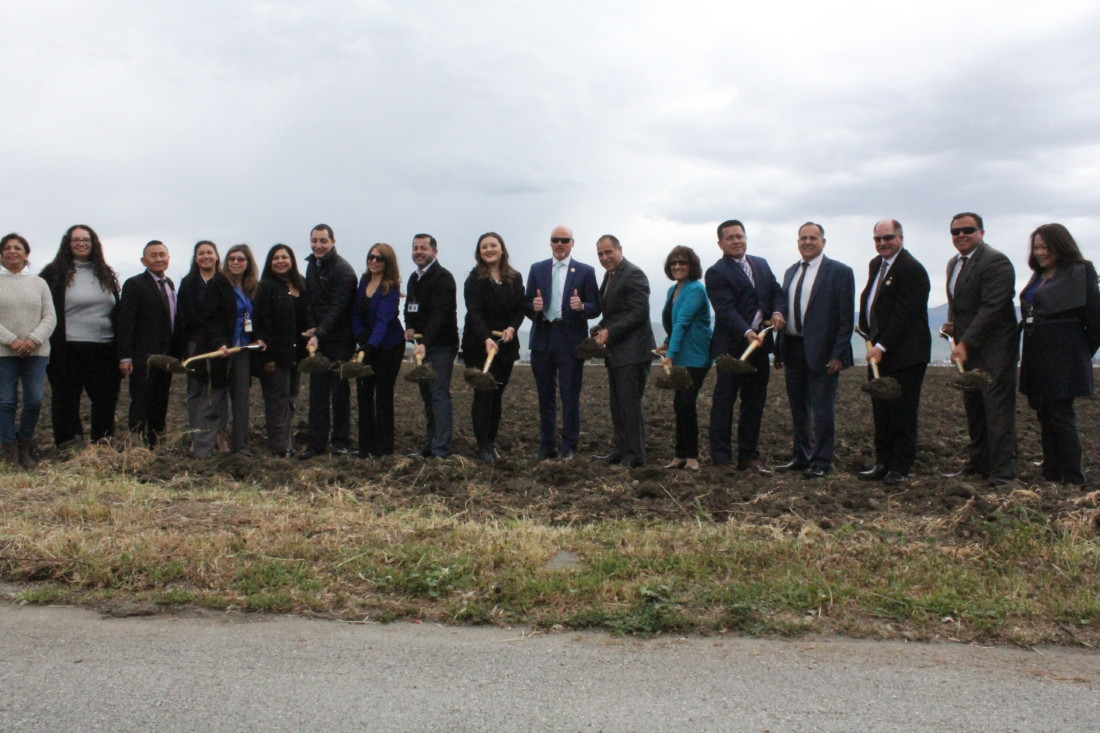 San Benito County Supervisors and Behavioral Health department board members and staff at the March 10 groundbreaking ceremony. Photo by Carmel de Bertaut.