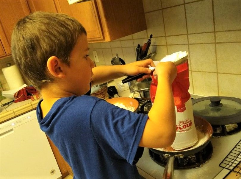 Parents suggested making a new recipe or involving your child when cooking. Photo provided by Heather Nichols.