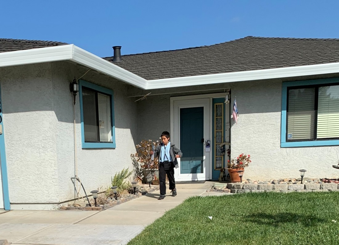 Carlos P., 6th grader at HDLA school, participated in the Feb. 29 canvassing around Hollister. Photo courtesy of Youth Alliance.