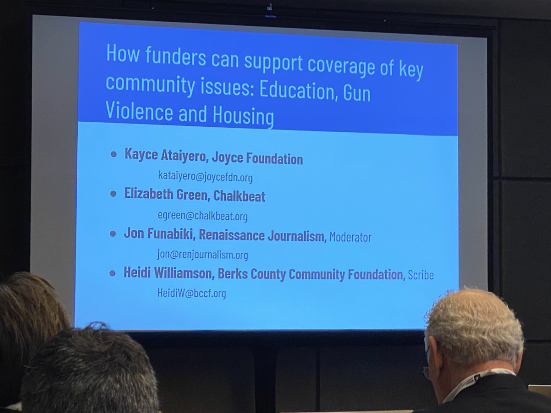 The Knight Foundation is pushing funders to consider local news as an essential community asset. Photo by Leslie David.