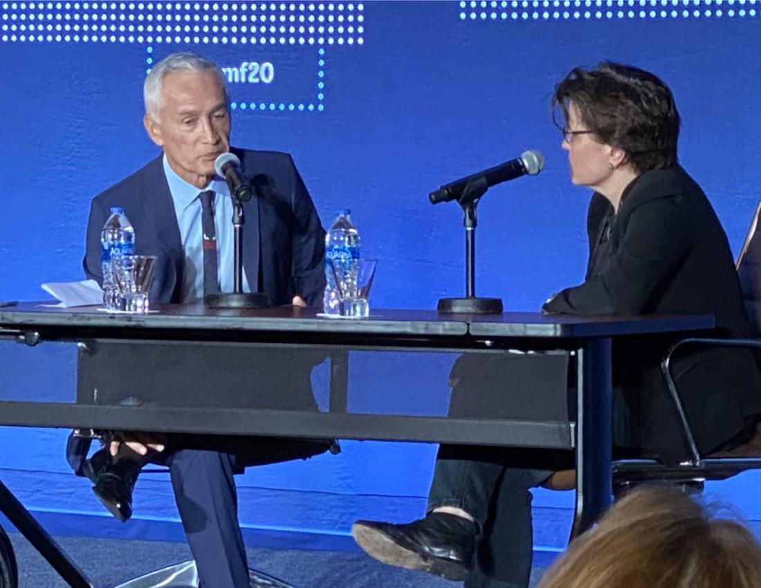 Univision anchor Jorge Ramos and New York Times contributor Kara Swisher. Photo by Leslie David.