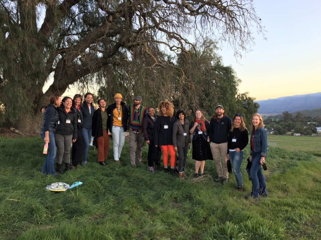 The regenerative wine event at Paicines Ranch was made up of a diverse group of people working within the wine industry. Photo credit Janna Olson.