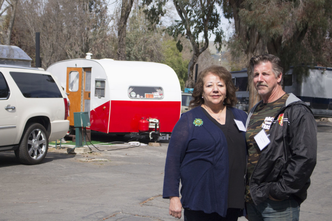 Soquel residents Toni and Gary Alldredge attended the restoration classes held at Casa De Fruta. Photo by Noe Magaña
