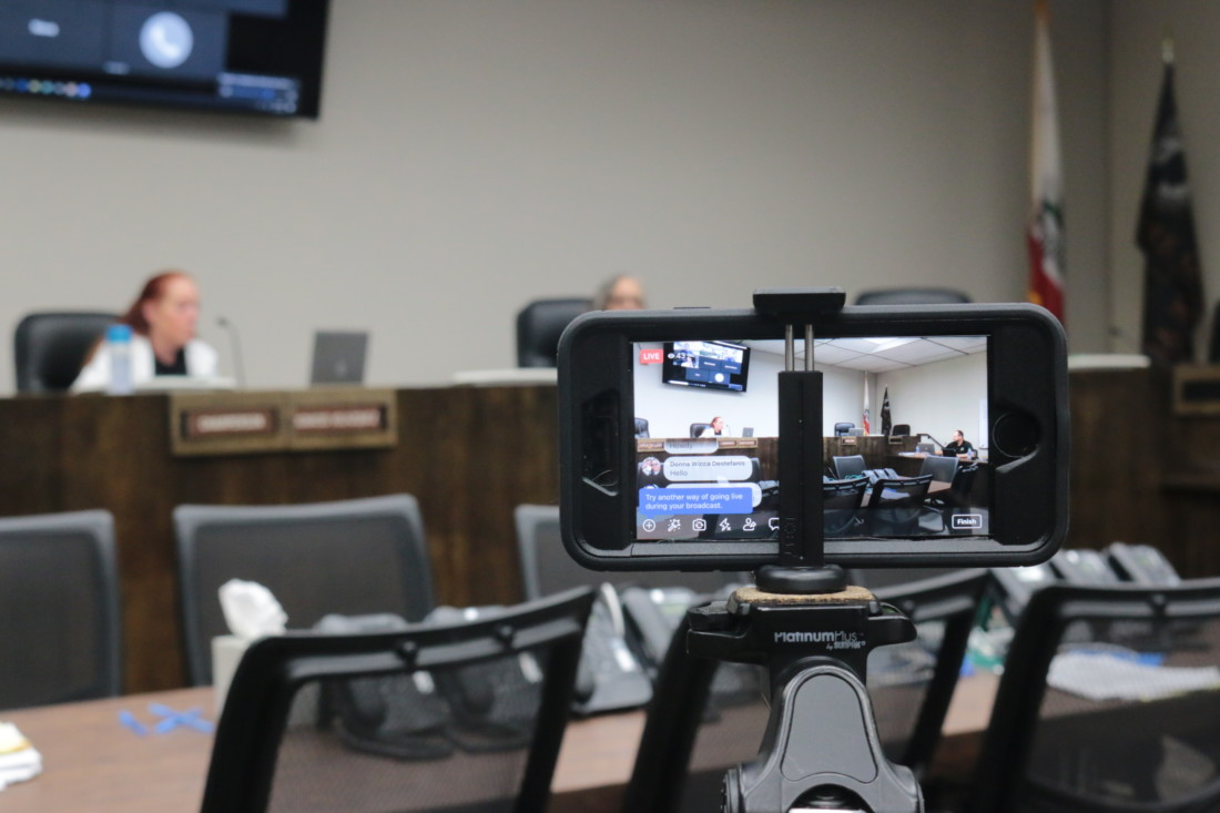 Benitolink live streamed the meeting.