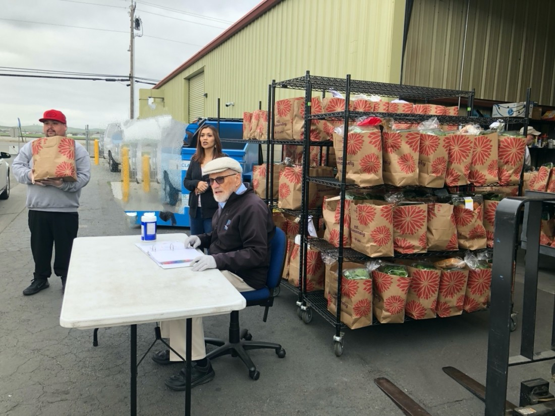 Since the COVID-19 outbreak, Community FoodBank has switched to a drive-thru system. Photo courtesy of Community FoodBank.