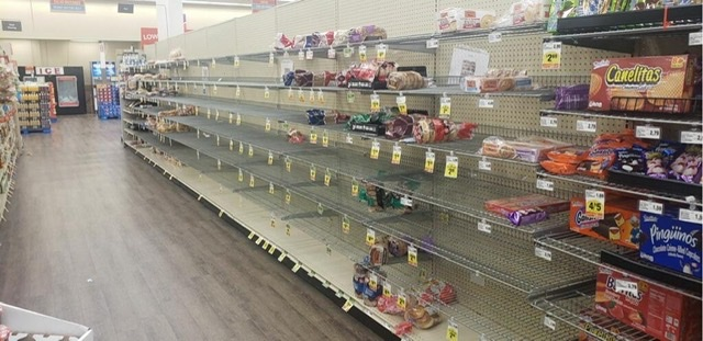 Bread shelves.