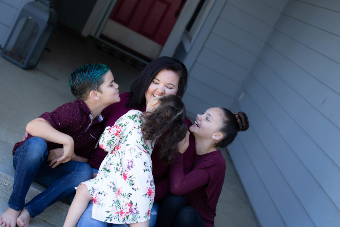 Kendra Baron said that the front porch portraits brought joy to her family.
