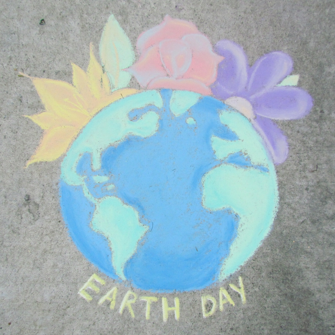 Chalk art by Heidi Jumper. Photo courtesy of San Benito County Integrated Waste Mangemant.
