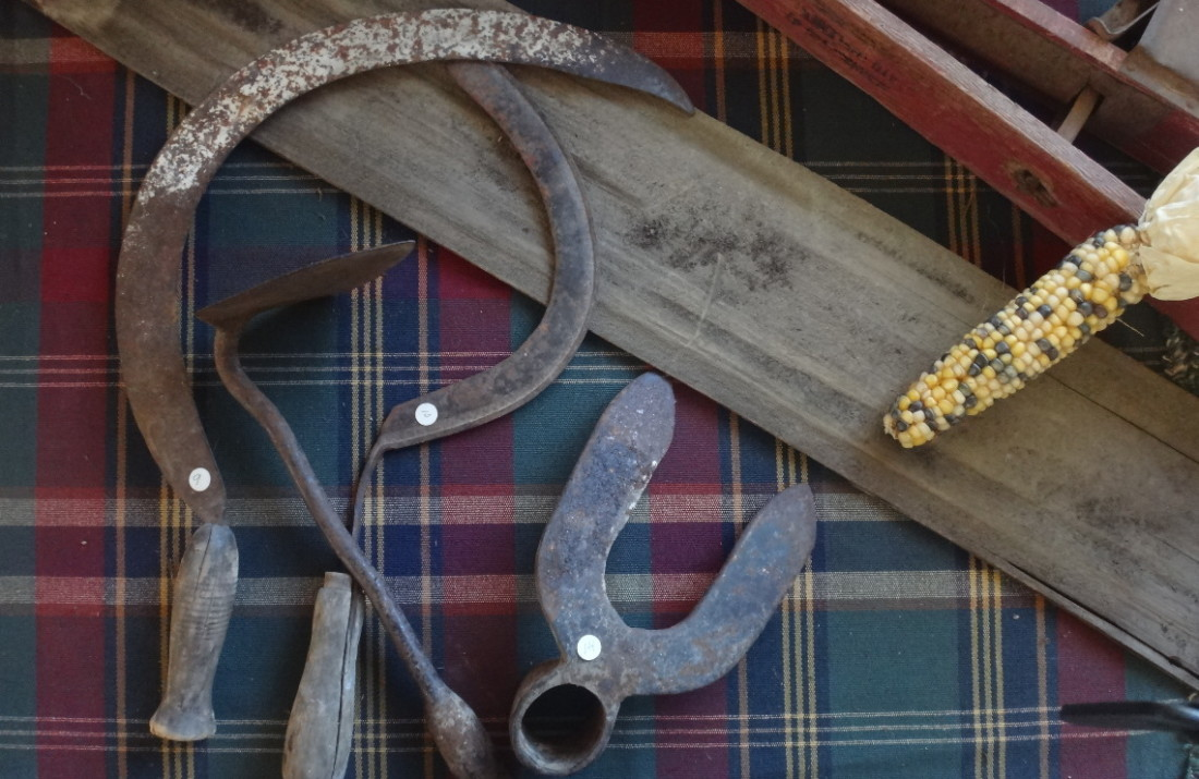 Jim Jack's tools. Photo by Robert Eliason.