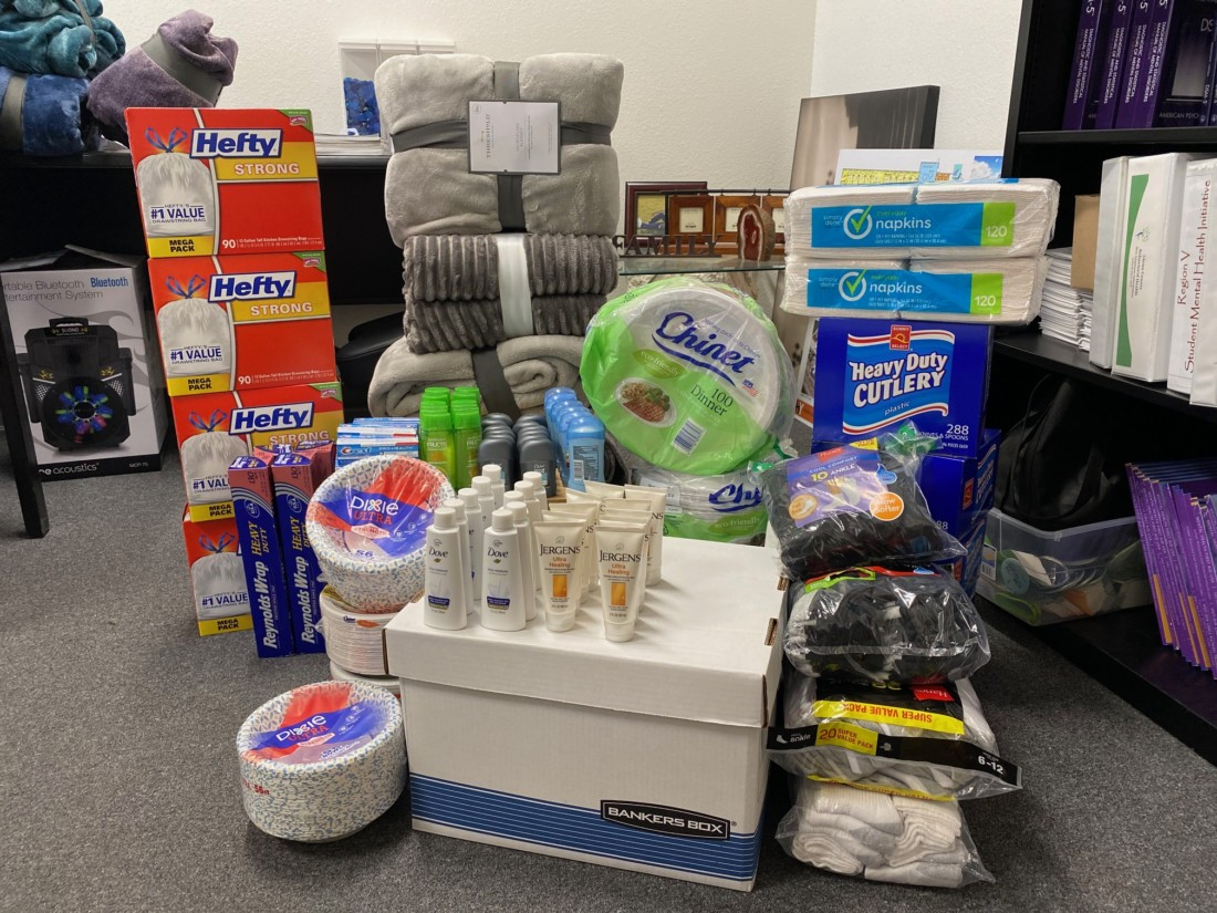 Items purchased by the department for donation. Photo provided by SBC Behavioral Health.