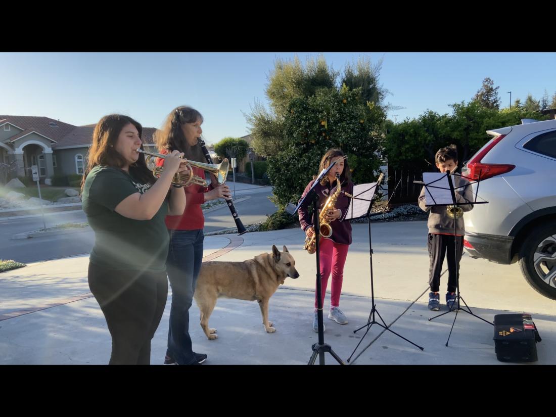 Kayla Chizek, Susan Silveira, Leila and Shaun Day playing music. Photo provided.