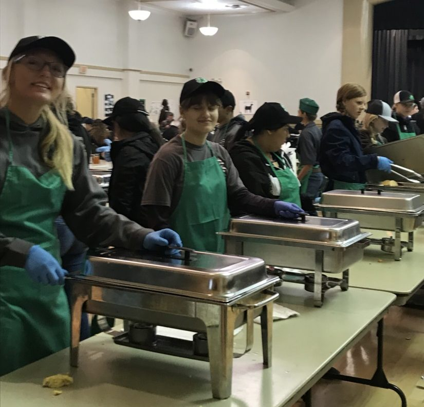 4-H Youth at the pancake breakfast. Photo provided by Devii Rao.