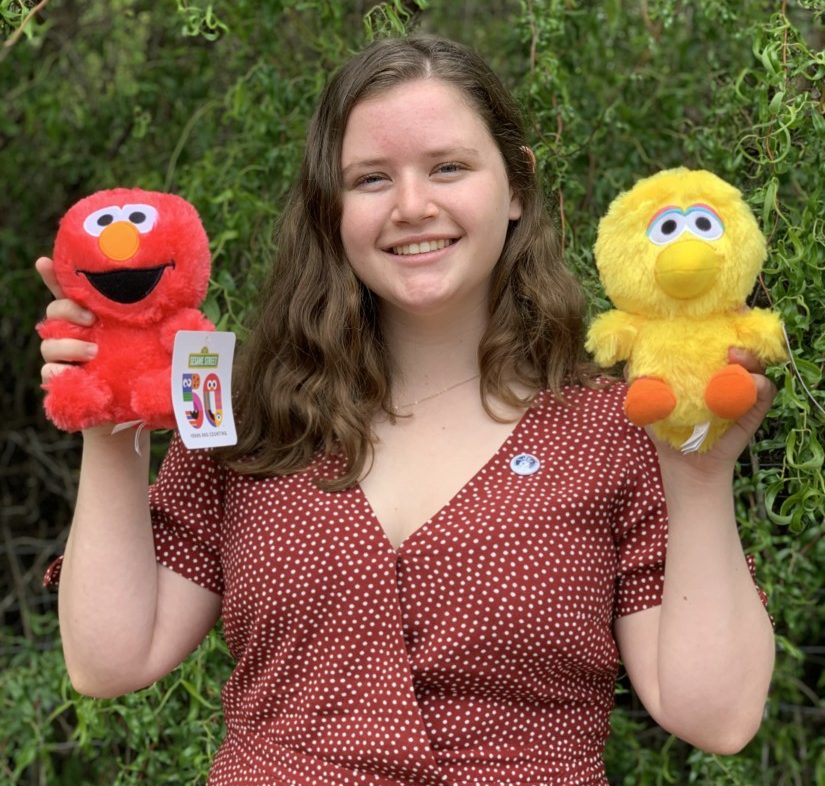Shelby O'Neil appeared on the May 11 episode of 'Sesame Street.' Photo courtesy of Shelby O'Neil.
