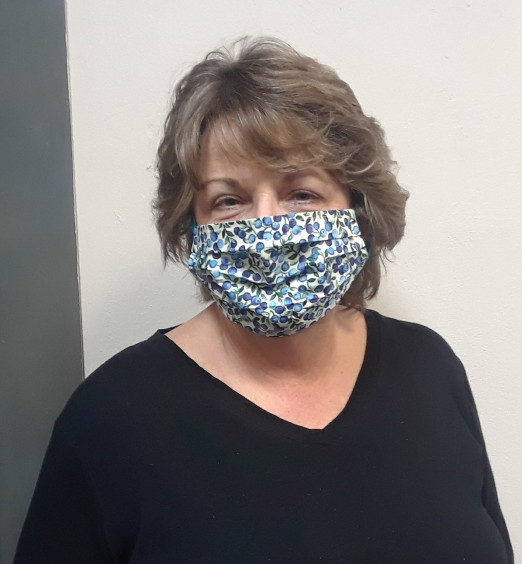 Deputy City Clerk Trish Paetz wearing a face covering. Photo provided.