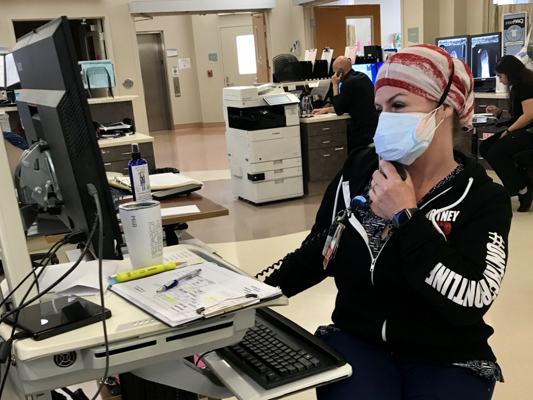 Charge Nurse Cortney Parrinello said she has never felt so safe working at the hospital. Photo provided by Laura Brigantino.