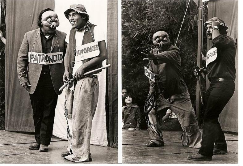Las Dos Caras, with Luis Valdez on the far right. Photo courtesy of El Teatro Campesino.