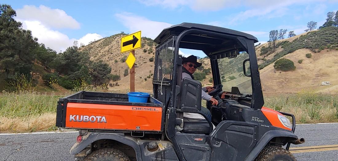 Rancher Vern Scattini in his rig. Photo by Sheri Schmidt