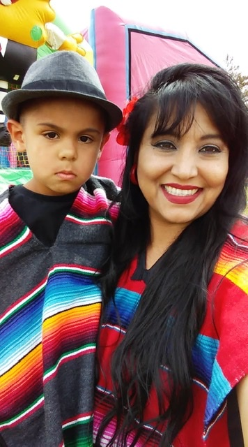 Sandra Casarez celebrating Cinco de Mayo with her grandson Jerry in 2018. Photo provided.