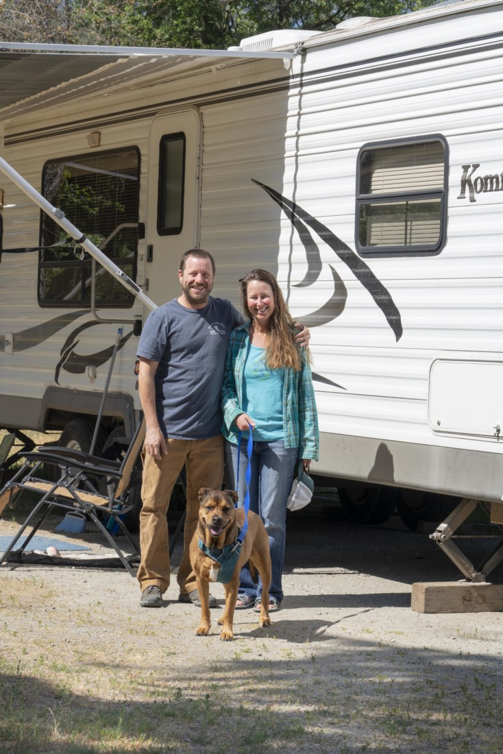 Angela and Eric are relieved to have been at San Benito RV Park for the last 2 months. Photo by Kirti Bassendine