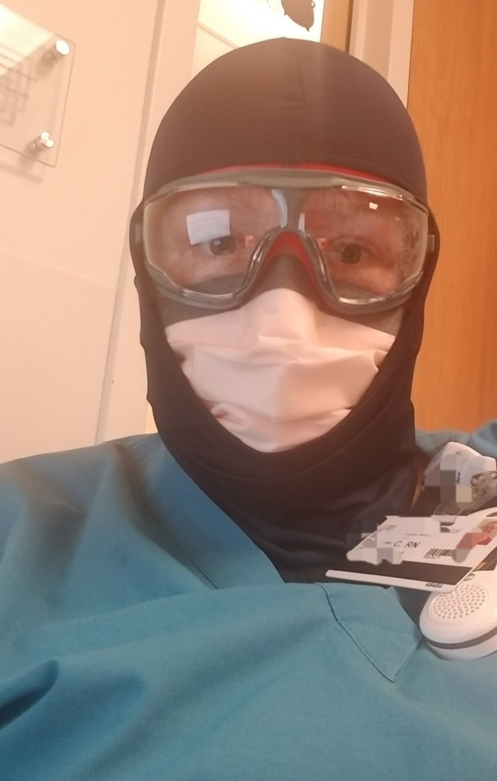 Brandy Applewhite in Stage Two personal protective equipment. Photo provided.