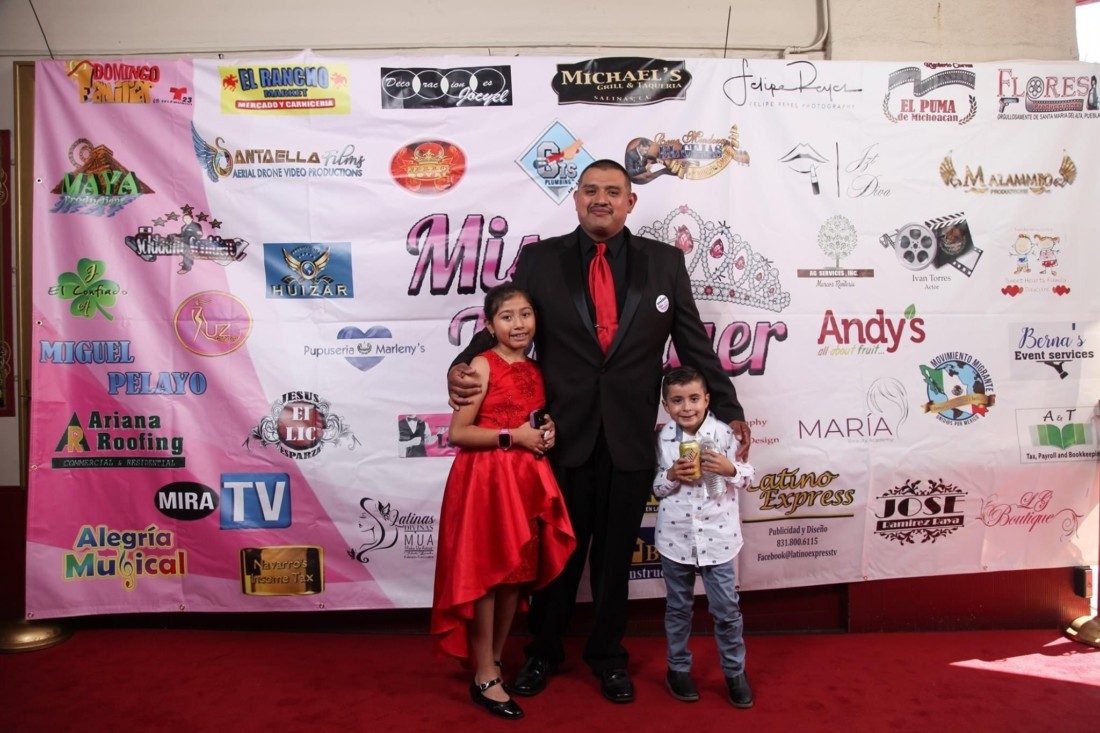 Israel Ramirez poses with his daughter Miriam and nephew Jacob. Photo provided.