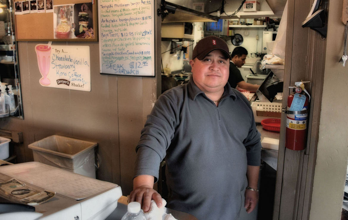 JJ's Burgers owner Jesus Zavela. The burger joint is one of three San Juan Bautista restaurants participating in the Great Plates Delivered program. Photo by Robert Eliason.