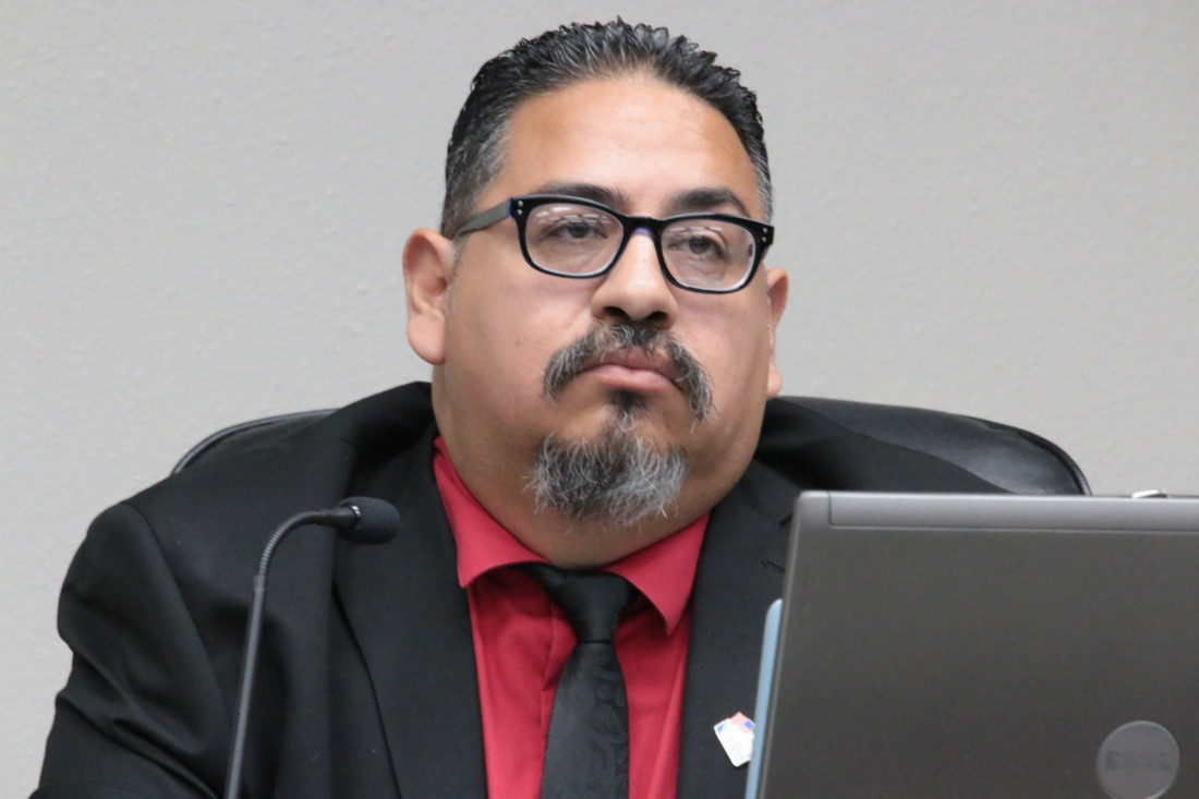 Councilman Rolan Resendiz said there is a group of people who harass him continually. File photo by John Chadwell.