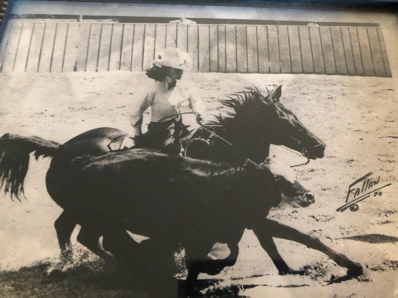 Tammy's mom Sandy Rose showing Princess Nile. Photo courtesy Tammy Rose