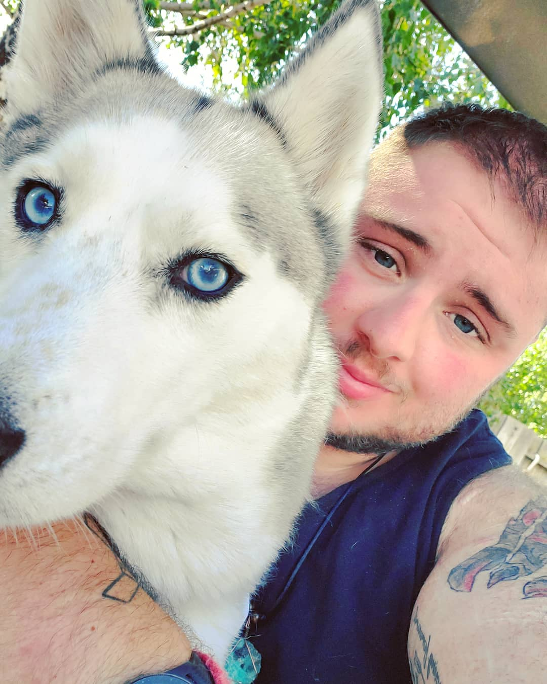 Maxx D'Elia with his dog Kagan. Photo provided.