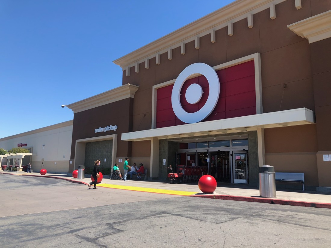 Customers walk into target on June 30. Photo by Shelby Schipsi.