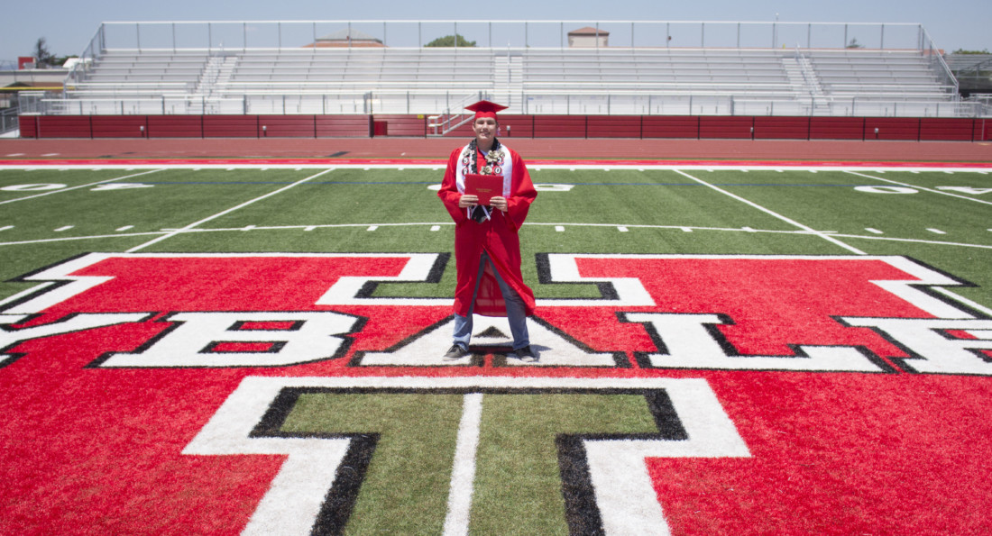 Recent SBHS graduate Jonathan Rivera. He plans to attend Hartnell College to join the track and field team. After Hartnell, he wants to go to a trade school to become an electrician.Photo by Noe Magaña.