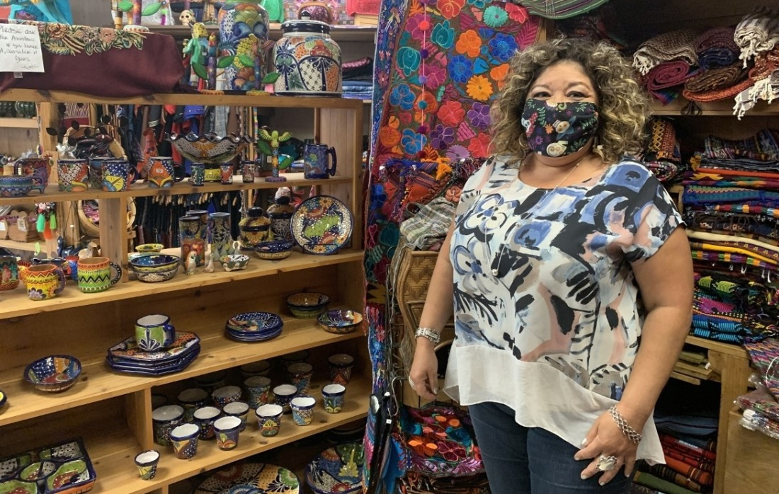 Claudia Lopez, owner of the Guatemala Boutique. Photo by Robert Eliason.