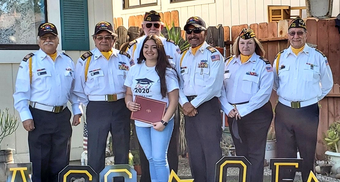 Sommer Salinas and VFW Honor Guard. Photo courtesy Sommer Salinas.