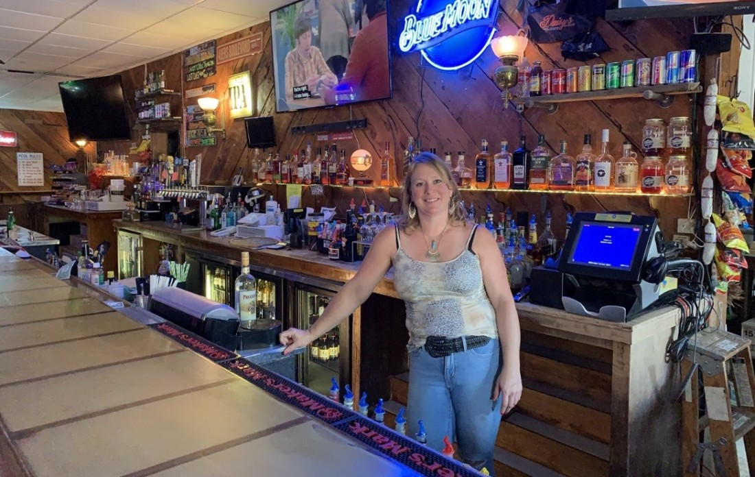 Cara Denny, owner of Daisy's Saloon in San Juan Bautista. Photo by Robert Eliason.
