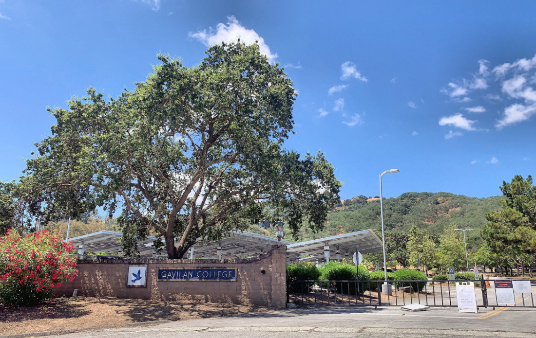 Gavilan College campus in Gilroy. Photo by Robert Eliason.