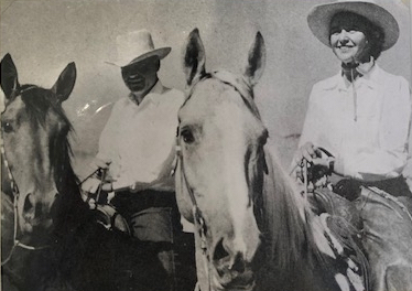 Lola Galli (right) with her husband, Frank. Photo courtesy Saddle Horse Show and Rodeo.