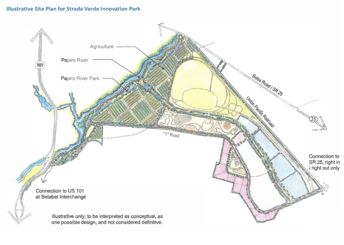 Illustrative site plan from public filing of initiative.