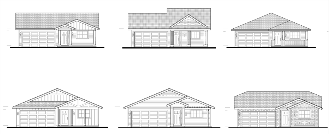 Facade designs for the Riverview II self-help housing project. Image courtesy of CSDC website.