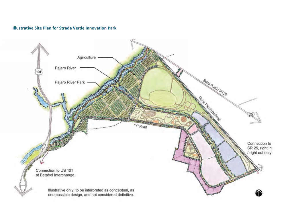 Site plan for Strada Verde Innovation Park. Image courtesy of Newport Pacific Land Company.