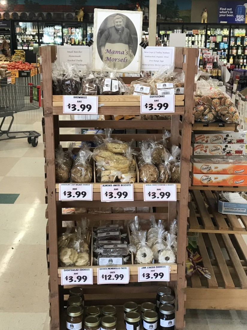 Mama's Morsels display case at the Windmill Market. Photo by Frank Perez.