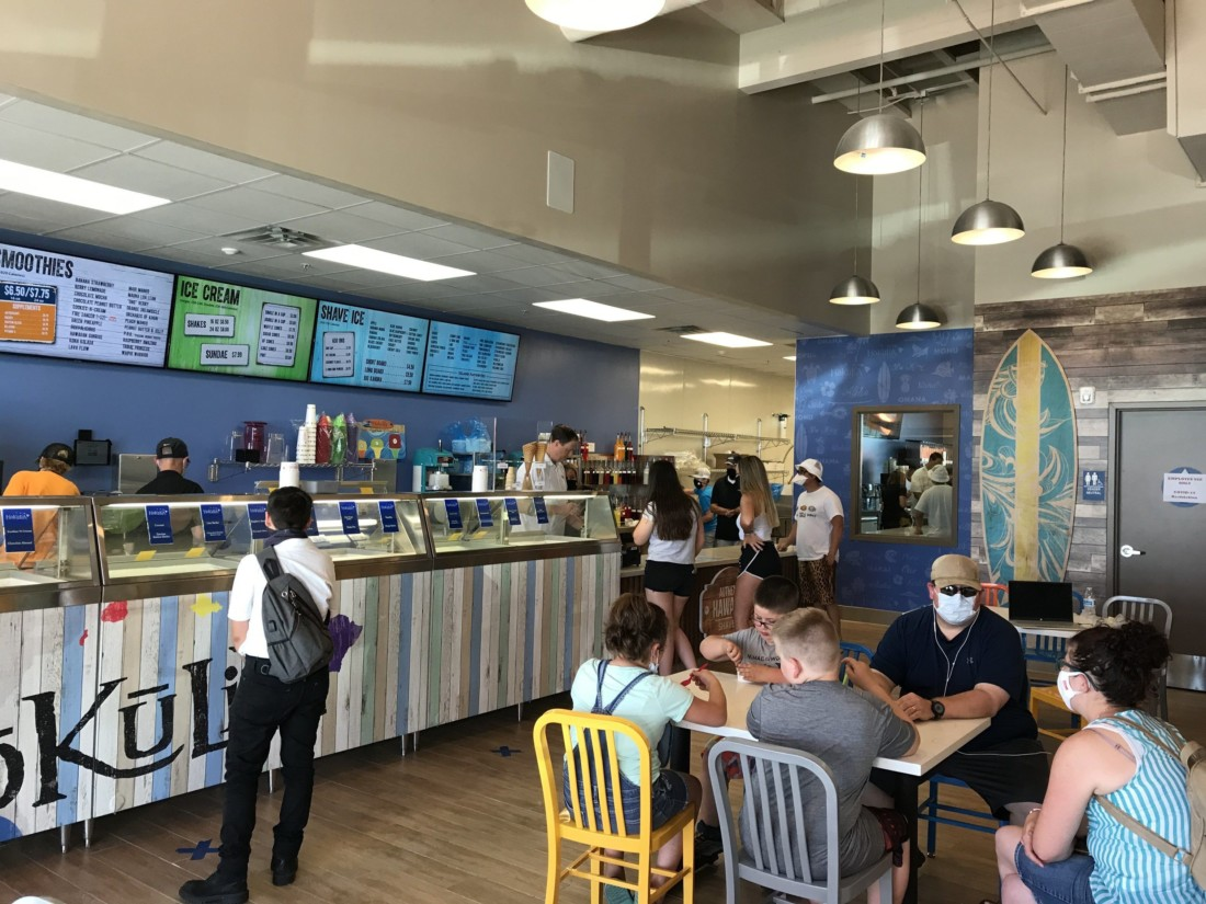 The interior of Hokulia Shave Ice in Hollister. Photo by Frank Perez.