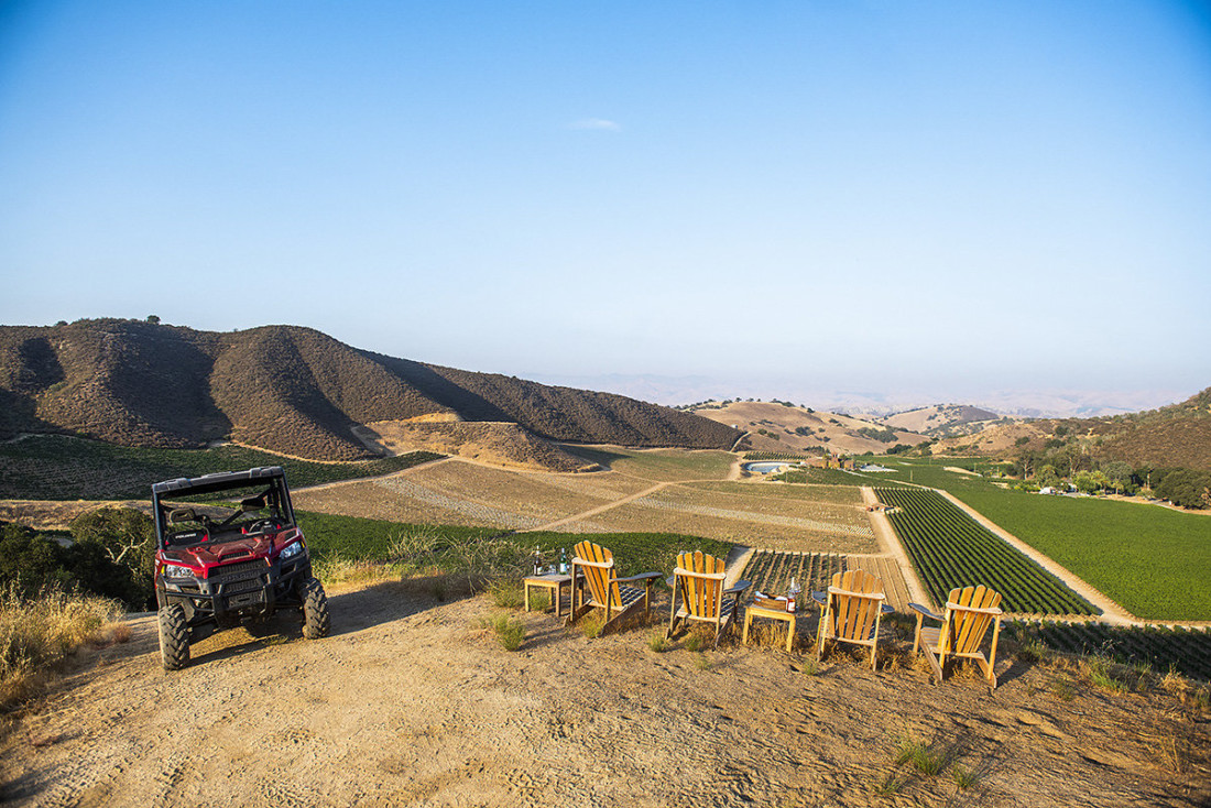 Eden Rift Vineyards currently hosts an All-Terrain Vineyard (ATV) Tour and Tasting option for parties of four or less. Photo courtesy of Eden Rift Vineyards.