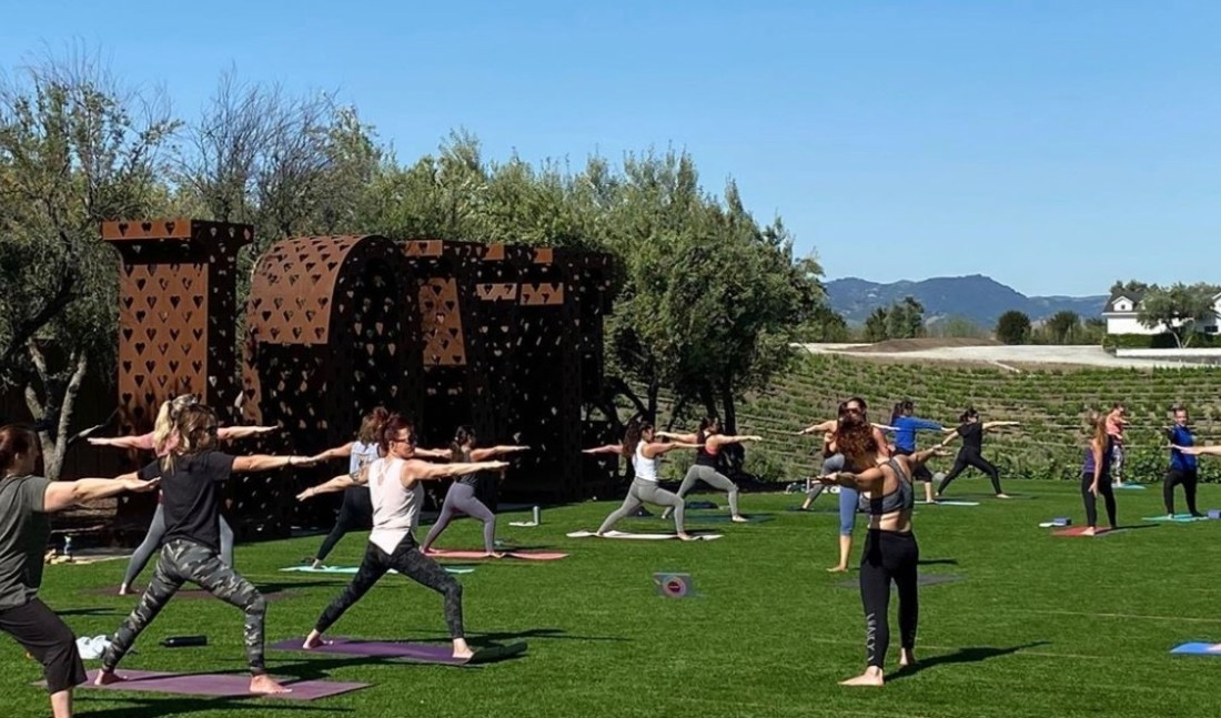 Kamal Yoga hosting a session outdoors. Photo provided.