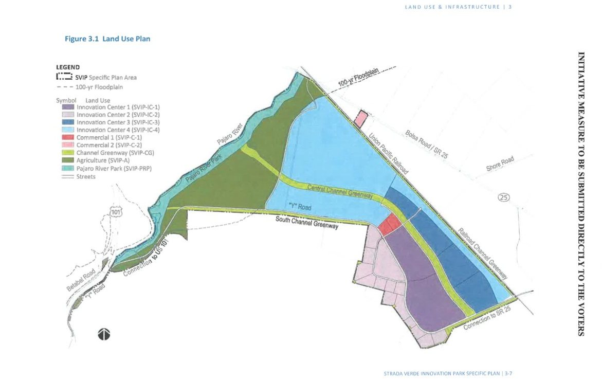 Strada Verde Land Use Plan. Image from the Initiative.