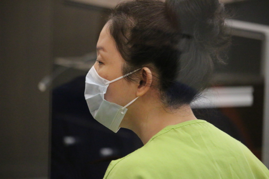 Jung Choi said she was remorseful for her involvement in the killing of Hollister resident Yoon Ji, but that did not sway the judge as he sentenced her to 11 years in prison. Photo by John Chadwell.